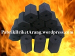 Coconut Shell Charcoal Briquettes Hexagonal